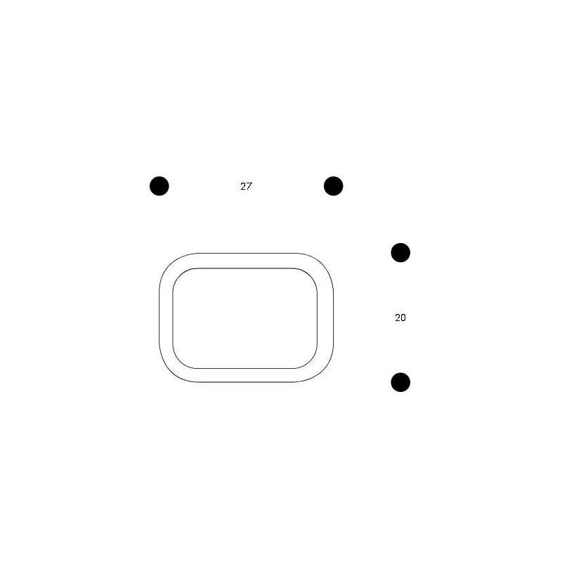dimensions Siena Plateau Petit Sand/White - artek -  - Accueil - Furniture by Designcollectors