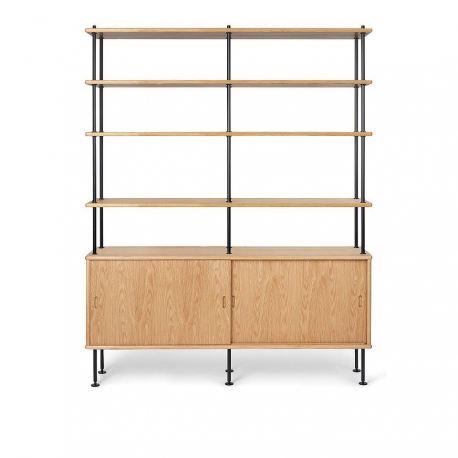 BM0253 Cabinet with 4 Shelves - Carl Hansen & Son - Furniture by Designcollectors