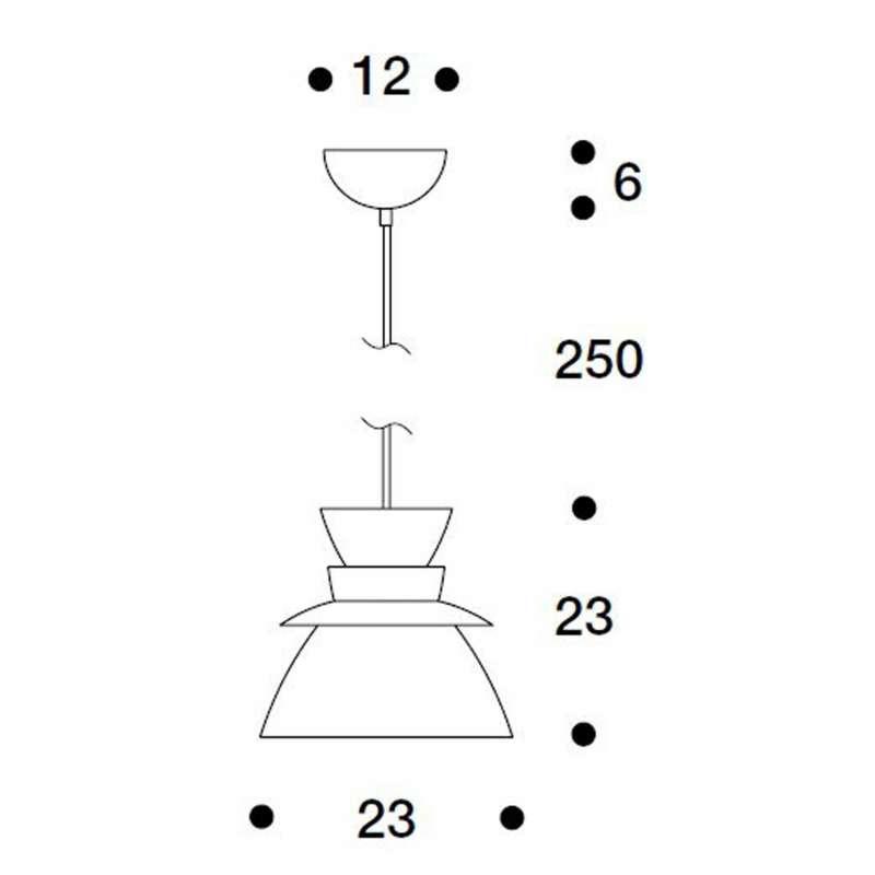 afmetingen Pendant Lamp U336 - artek -  - Verlichting - Furniture by Designcollectors