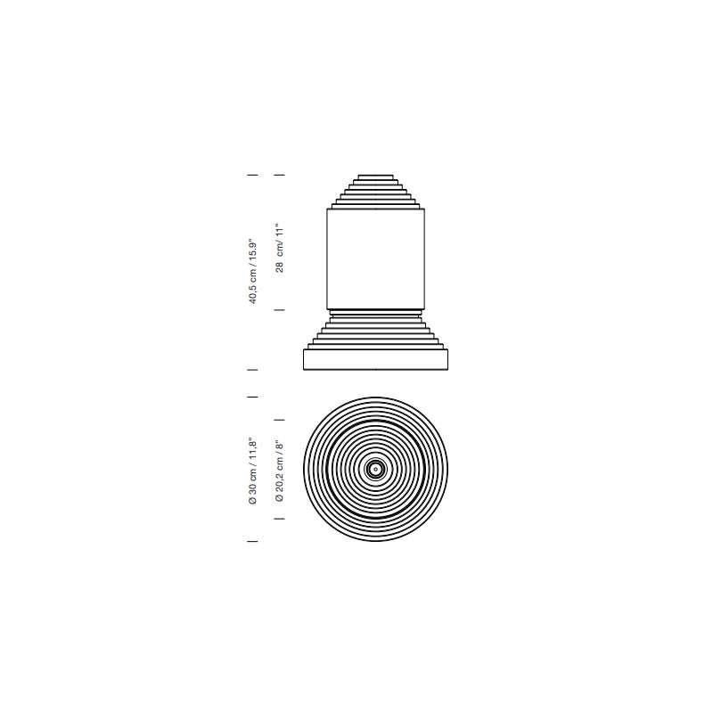afmetingen Babel - Santa & Cole - Àngel Jové - Verlichting - Furniture by Designcollectors