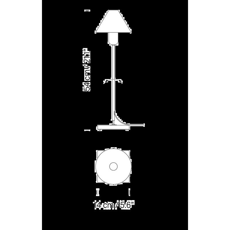 afmetingen Gira black - Santa & Cole - Santa & Cole Team - Verlichting - Furniture by Designcollectors