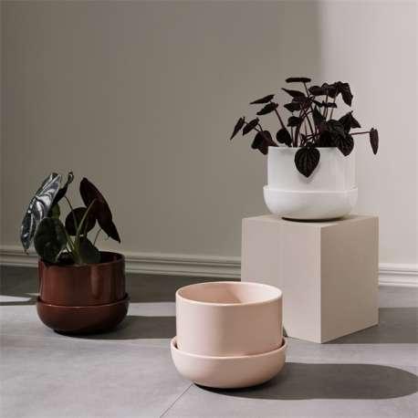 Nappula bloempot met schotel beige 170x130 - Iittala - Matti Klenell - Accessoires - Furniture by Designcollectors