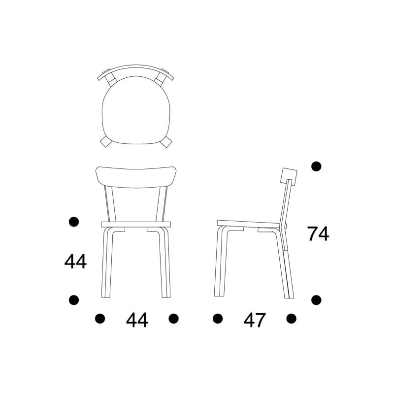 dimensions 69 Chair - artek - Alvar Aalto - Chairs - Furniture by Designcollectors