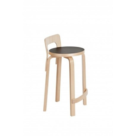 High Chair K65 Barstoel Naturel gelakt - artek - Alvar Aalto - Aalto korting 10% - Furniture by Designcollectors