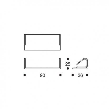 dimensions 112A Wall Shelf - artek - Alvar Aalto - Back to school - Furniture by Designcollectors