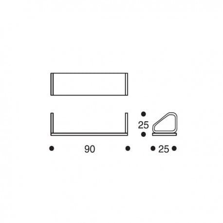 dimensions 112B Wall Shelf - artek - Alvar Aalto - Home - Furniture by Designcollectors