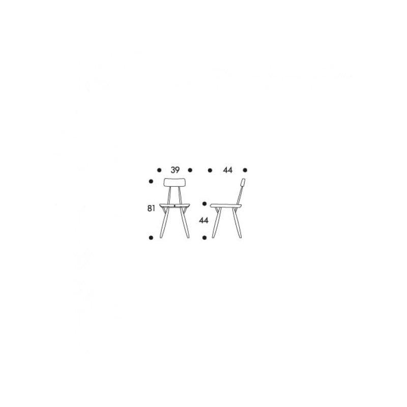 afmetingen Pirkka Stoel - artek - Ilmari Tapiovaara -  - Furniture by Designcollectors