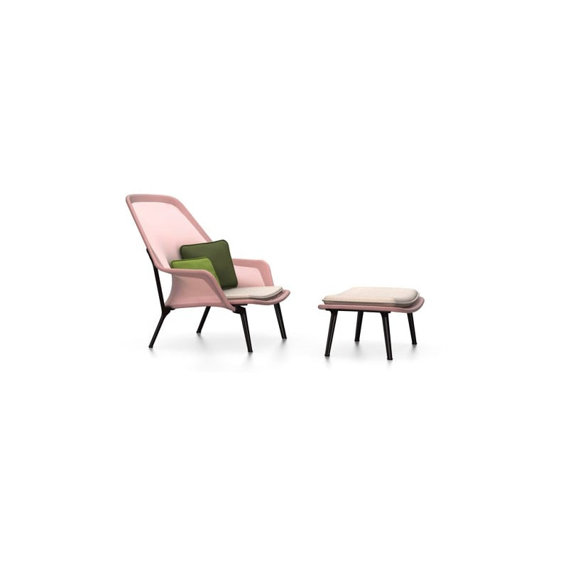 dimensions Slow Chair & Ottoman - vitra - Ronan and Erwan Bouroullec - Home - Furniture by Designcollectors