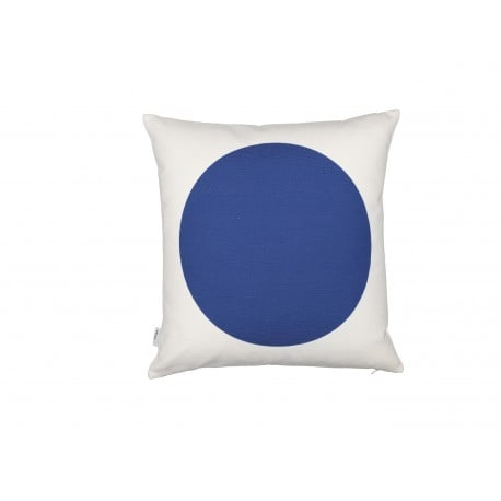 Graphic Print Pillow: Rectangles/Circle, red/blue - vitra - Alexander Girard - Textiles - Furniture by Designcollectors