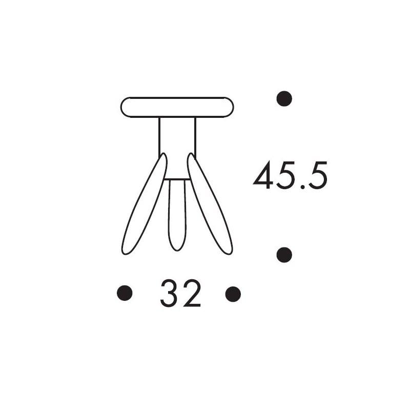 afmetingen Baby Rocket Stool EA002 Kruk - artek - Eero Aarnio -  - Furniture by Designcollectors