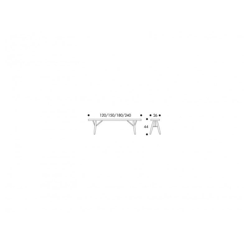 dimensions Pirkka Bench - artek - Ilmari Tapiovaara -  - Furniture by Designcollectors