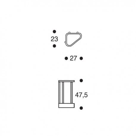 dimensions 115 Umbrella Stand - artek - Alvar Aalto - Home - Furniture by Designcollectors