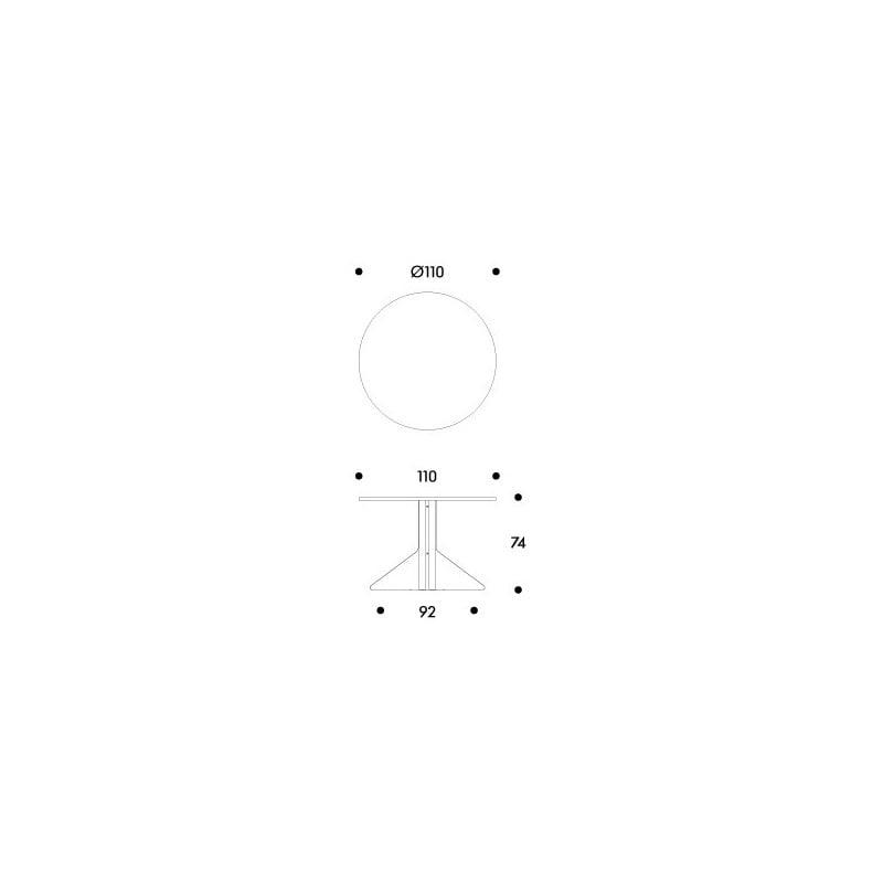 dimensions REB 004 Kaari large round table - artek - Ronan and Erwan Bouroullec - Tables - Furniture by Designcollectors