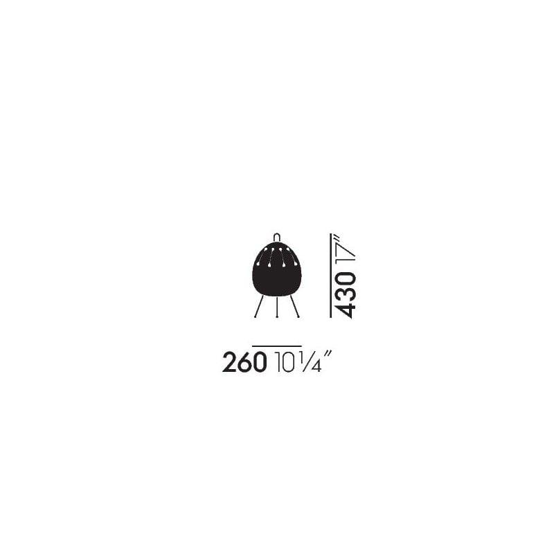 dimensions Akari 1AD Table Lamp - vitra - Isamu Noguchi - Home - Furniture by Designcollectors