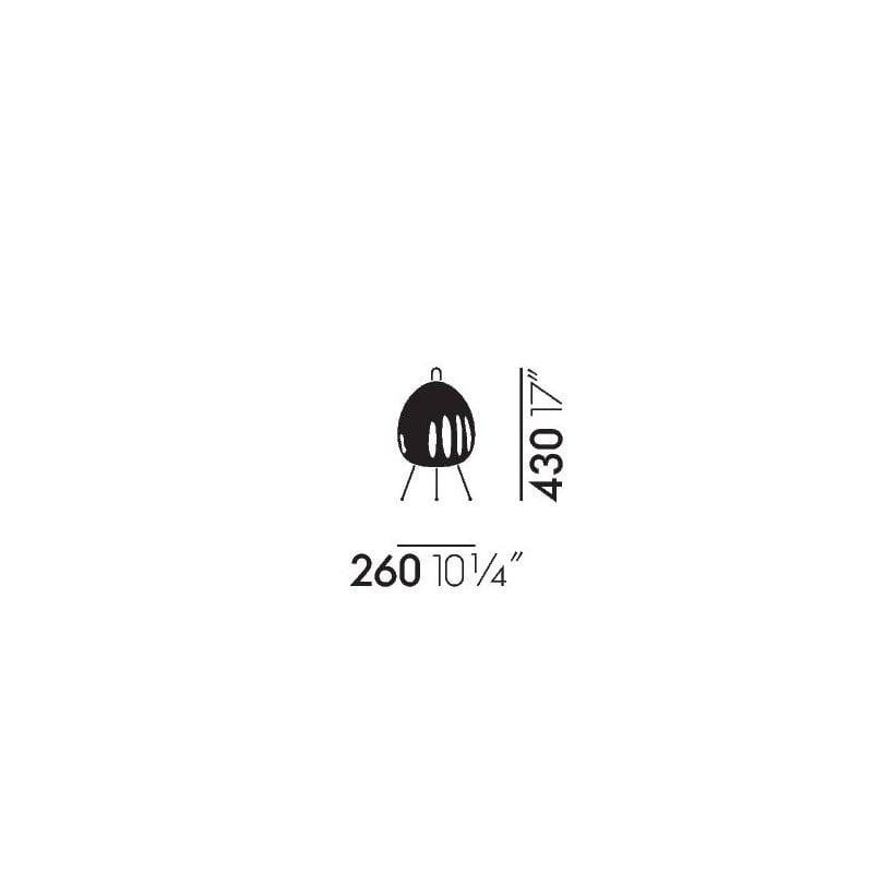 afmetingen Akari 1AY Tafellamp - vitra - Isamu Noguchi - Home - Furniture by Designcollectors