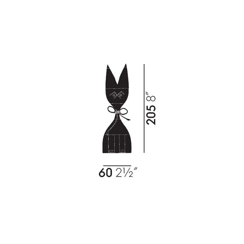 afmetingen Wooden Dolls 9 - vitra - Alexander Girard - Home - Furniture by Designcollectors