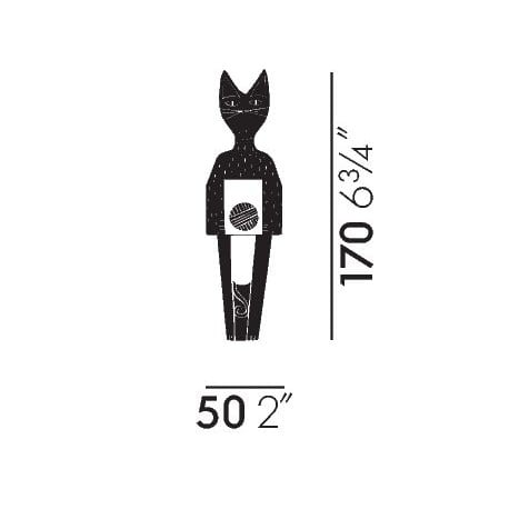 dimensions Wooden Doll Cat: small version - vitra - Alexander Girard - Wooden dolls - Furniture by Designcollectors