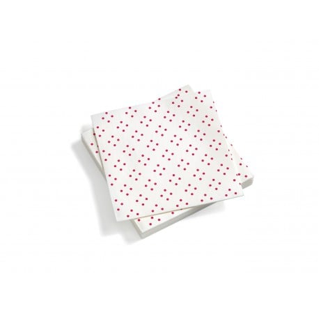 Paper Napkins, Large, Quadrispot, Dark pink - Furniture by Designcollectors