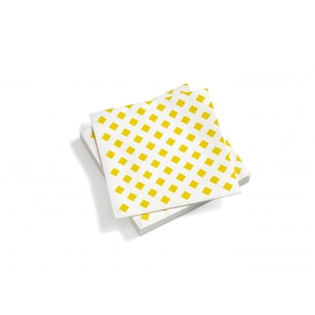 Paper Napkins, Large, La Fonda Checks, Yellow - Furniture by Designcollectors