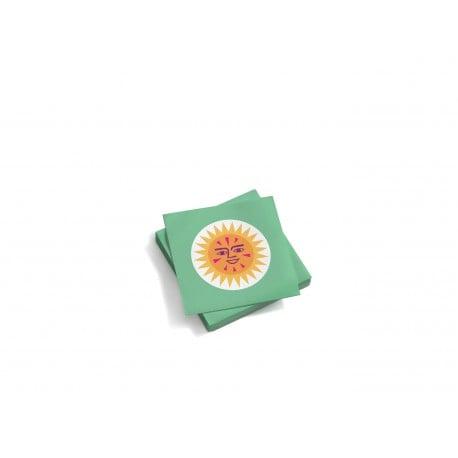 Paper napkins: La Fonda Sun small-yellow green - Vitra - - Gifts - Furniture by Designcollectors