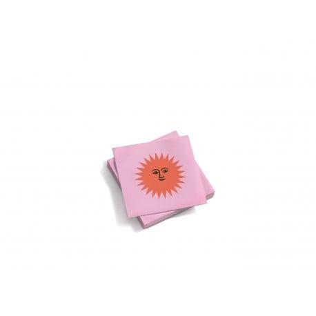 Paper napkins: La Fonda Sun small-orange rose - Furniture by Designcollectors