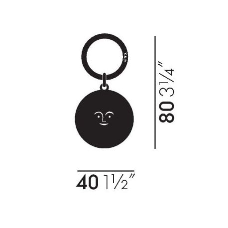 dimensions Key Ring Sun - vitra - Alexander Girard - Back to school - Furniture by Designcollectors