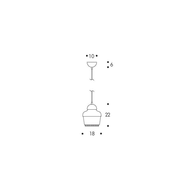 dimensions A330 Ceiling Lamp - artek - Alvar Aalto - Lighting - Furniture by Designcollectors