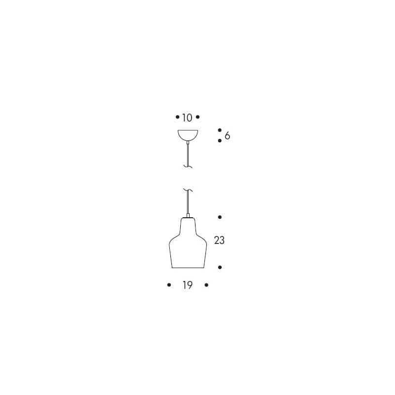 dimensions A440 Pendant Lamp - artek - Alvar Aalto - Aalto korting 10% - Furniture by Designcollectors