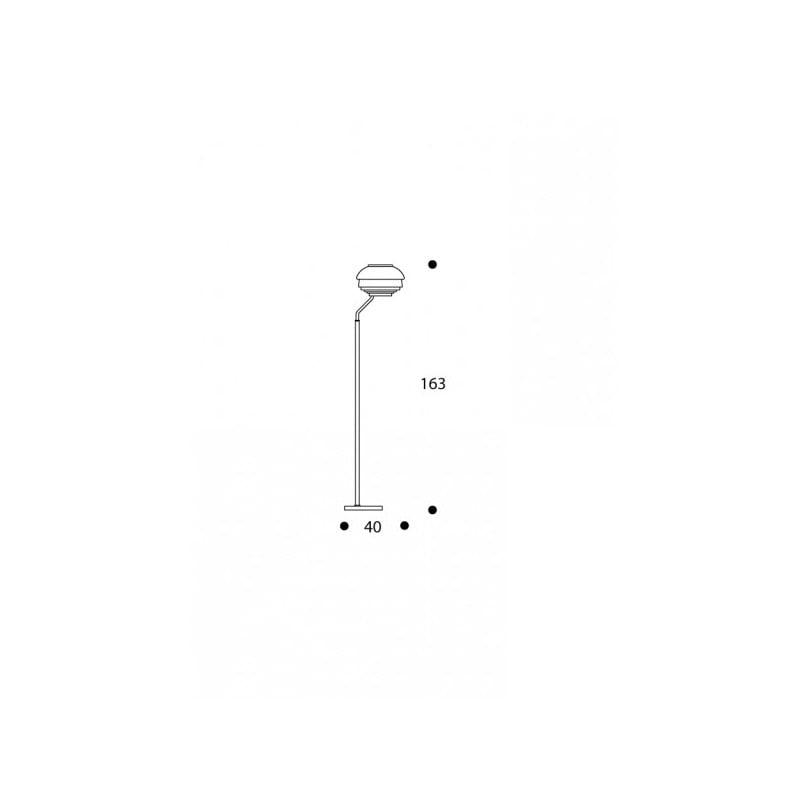 dimensions A808 Floor Lamp - artek - Alvar Aalto - Aalto korting 10% - Furniture by Designcollectors