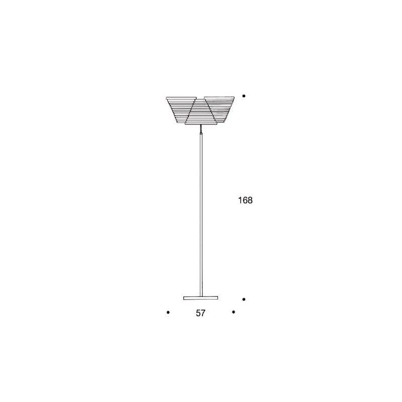 dimensions A809 Floor Lamp - artek - Alvar Aalto - Aalto korting 10% - Furniture by Designcollectors