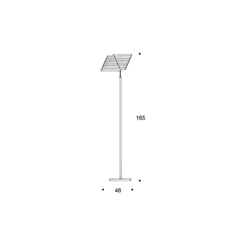afmetingen Floor Lamp A810 Staande Lamp - artek - Alvar Aalto - Verlichting - Furniture by Designcollectors