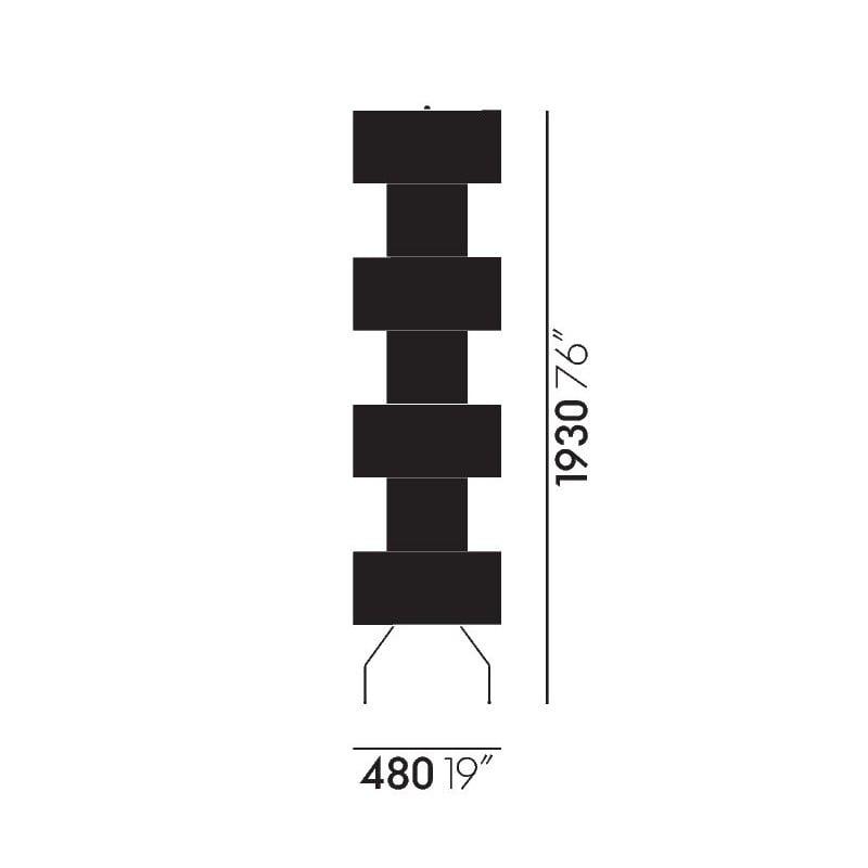 dimensions Akari UF4-L10 Floor Lamp - vitra - Isamu Noguchi - Home - Furniture by Designcollectors