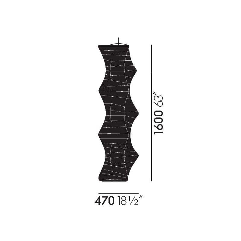 dimensions Akari 33N Ceiling Lamp - vitra - Isamu Noguchi - Home - Furniture by Designcollectors