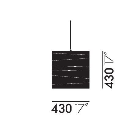 dimensions Akari 45X Ceiling Lamp - vitra - Isamu Noguchi -  - Furniture by Designcollectors