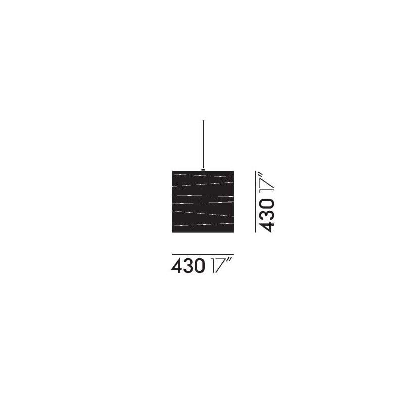 dimensions Akari 45X Ceiling Lamp - vitra - Isamu Noguchi - Home - Furniture by Designcollectors