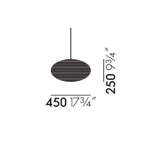 dimensions Akari 26A Ceiling Lamp - vitra - Isamu Noguchi - Vitra Akari Light Sculptures - Furniture by Designcollectors
