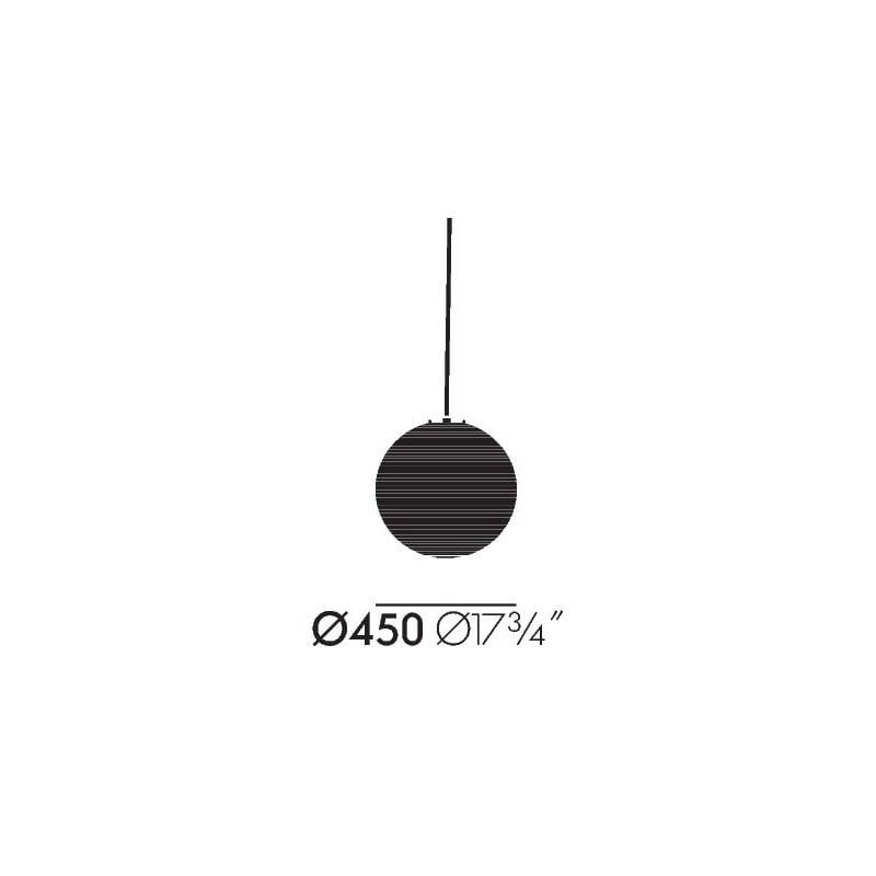 afmetingen Akari 45A Hanglamp - vitra - Isamu Noguchi - Verlichting - Furniture by Designcollectors