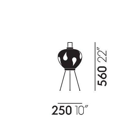dimensions Akari 3AD Floor Lamp - vitra - Isamu Noguchi -  - Furniture by Designcollectors