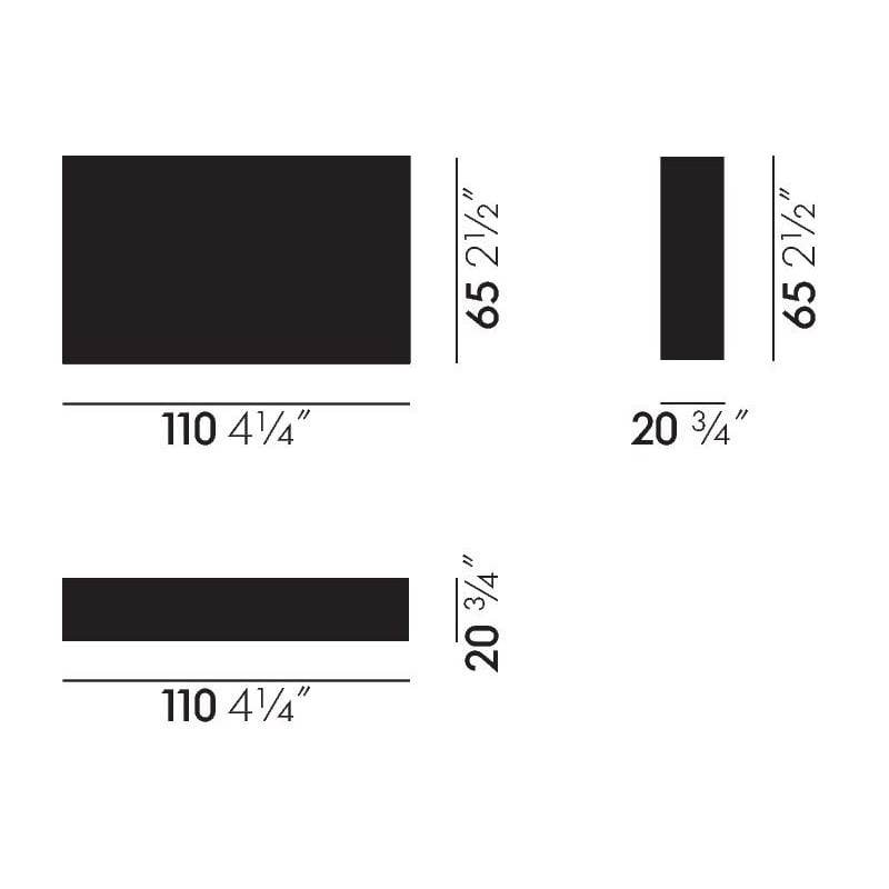 dimensions Matchbox Geometric A - vitra - Alexander Girard - Home - Furniture by Designcollectors
