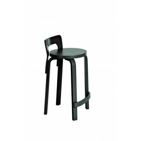 High Chair K65 Barstoel Wit of zwart gelakt - artek - Alvar Aalto - Home - Furniture by Designcollectors
