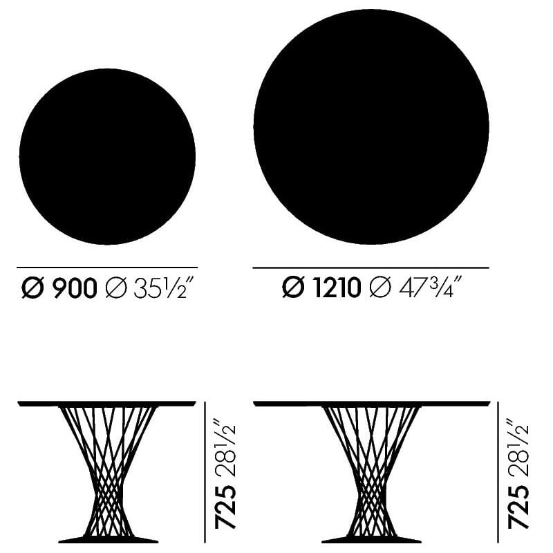 dimensions Noguchi Table à manger - vitra - Isamu Noguchi - Tables - Furniture by Designcollectors