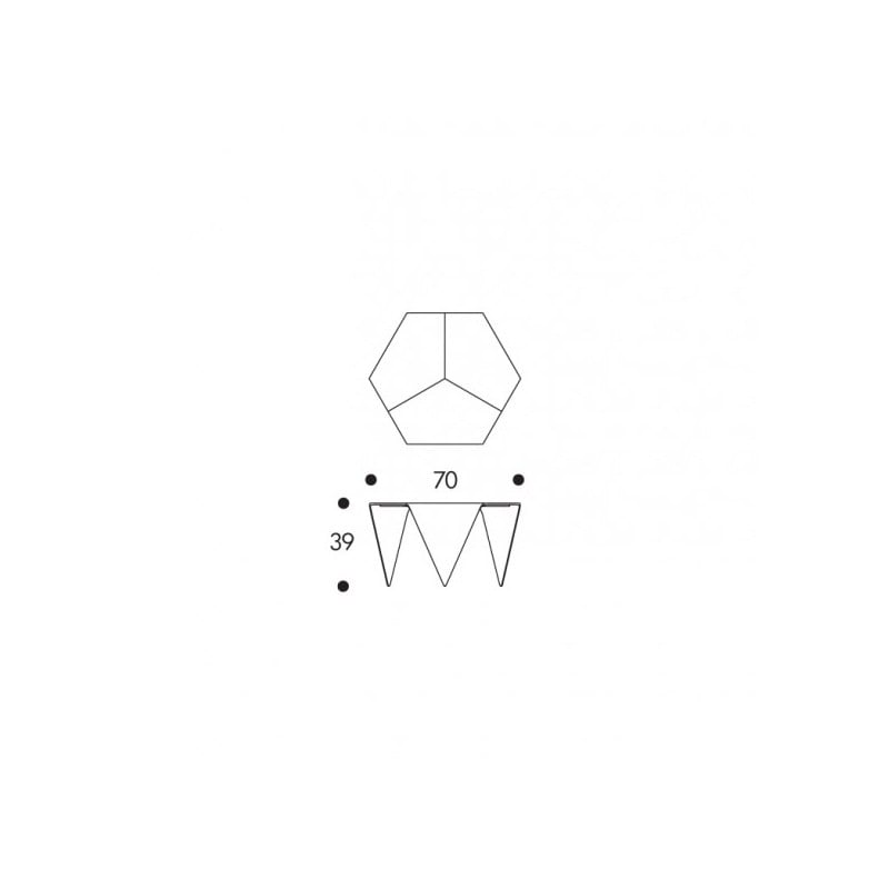 dimensions Trienna Coffee Table - artek - Ilmari Tapiovaara - Home - Furniture by Designcollectors