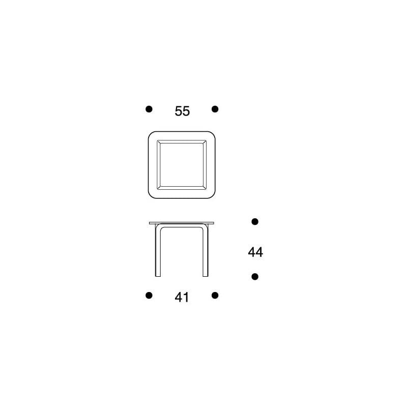 dimensions Glass Table Y805C - artek - Alvar Aalto - Home - Furniture by Designcollectors