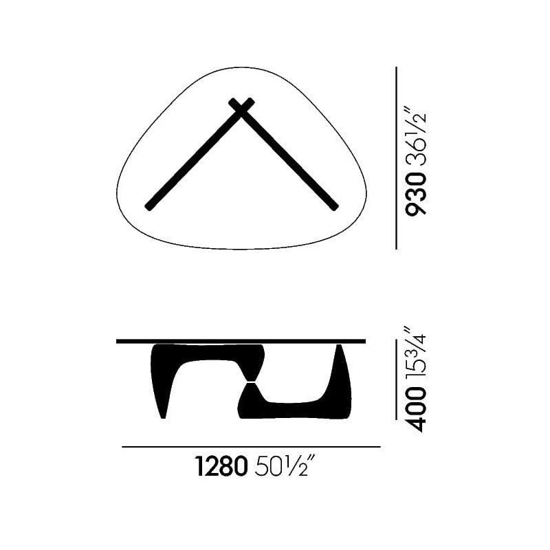 dimensions Noguchi Coffee Table - vitra - Isamu Noguchi - Home - Furniture by Designcollectors