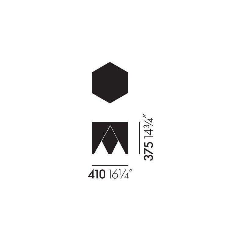 afmetingen Noguchi Prismatic Bijzettafel - vitra - Isamu Noguchi - Home - Furniture by Designcollectors
