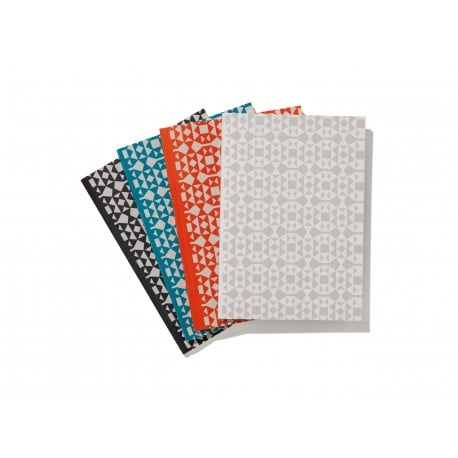 Notebook Soft Cover A5, Facets petrol - Vitra - Alexander Girard - Gifts - Furniture by Designcollectors