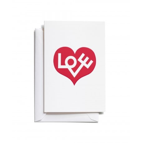 Greeting Card: Love Heart Red (S) - Vitra - Alexander Girard - Accessories - Furniture by Designcollectors