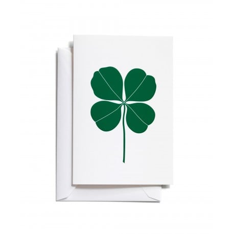 greeting card: Four Leaf Clover Green (S) - Vitra - Alexander Girard - Accessories - Furniture by Designcollectors
