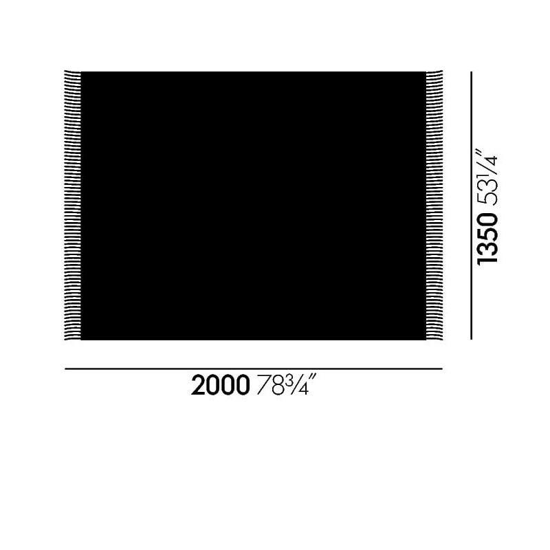 afmetingen Eames Wool Blanket Deken - vitra - Charles & Ray Eames -  - Furniture by Designcollectors