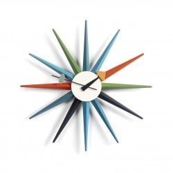 Sunburst Clock: Multicolor